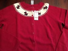 Gymboree Mom Christmas Holiday Friends Red Scottie Dog Sweater XL NWT