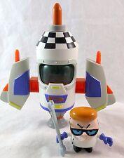 Trendmasters Cartoon Network Dexter's Laboratory Rocket Ship Figure Set Complete
