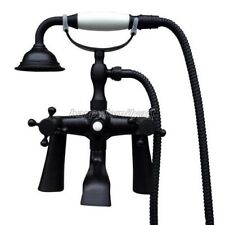 Black Oil Rubbed Brass Deck Mount Clawfoot Bath Tub Faucet Mixer Tap ytf500