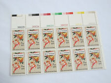 MINT US Postal Service Merry Christmas 1975 Early Card Stamp Sheet FREE SHIP