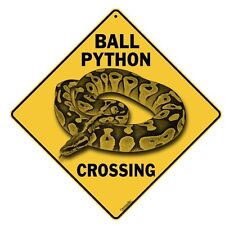 Ball Python Crossing Sign NEW 12X12 Metal Snake Reptile Royal Python