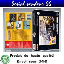 "Boitier du jeu "" STAR WARS SHADOWS OF THE EMPIRE "", N 64, visuel PAL FR. HD"