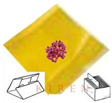 PARCEL PAPERS 25 pc YELLOW LINER FOR RED Stone Diamond RUBIES GEMSTONES WRAPPING