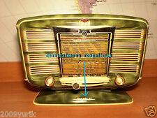 Vintage Tube Radio SNR 52 excelsior emblem replica