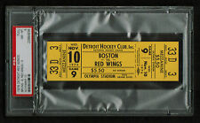 PSA 8 OLYMPIA STADIUM 1976 Unused NHL Hockey Ticket for the Bruins at Red Wings