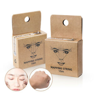 Brown Pre-Inked Mapping Thread Strings Pigment String Tattoo Eyebrow Perman FD