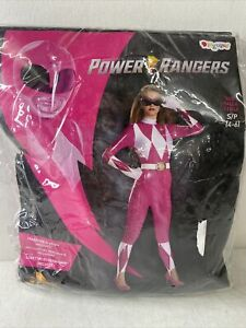 Power Rangers Pink Ranger Bodysuit Adult Womens Costume Size S.  I