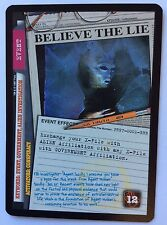 X-Files CCG Believe The Lie Exclusive Promo Card