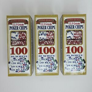 Casino Quality 300 (11.5 Gram) Poker Chips With Rack Trays - New Sealed