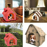 Dog House Pet Bed Foldable Cat Kennel Indoor Portable Spring Puppy Mat Cave le
