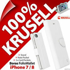Krusell Boras FolioWallet Stand 3x Card Wallet Case Cover for Apple iPhone 7 / 8