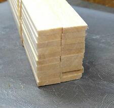 WWS Balsa Wood Strips 6.5 x 25 x 305 mm (1/4 x 1 x 12 inch) - 45 Pack – Model