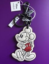 Coach x Disney 58994 Mickey Mouse Hand Leather Bag Charm Key chain fob -SOLD OUT