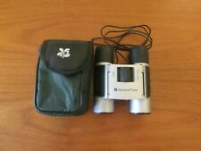 National Trust 8x12 silver/black rubber binoculars with green case