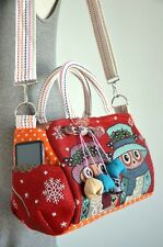 Beautiful Vintage Hippie Style Handbag Owl Crossbody Bag Hand Made