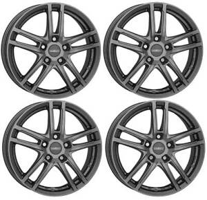 4 Dezent TZ graphite wheels 7.0Jx17 5x114,3 for Dacia Duster 17 Inch rims
