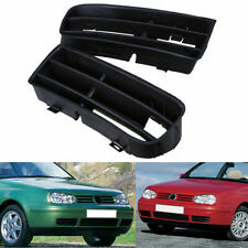 Front Lower Bumper Insert Grille Fog Light Grill L&R Side for 98-06 VW Golf MK4