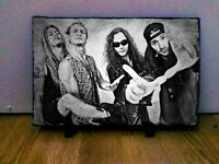 Alice in Chains Sketch Art Portrait on Slate 8x6in rare collectable memorabilia