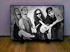 """Alice in Chains Sketch Art Portrait on Slate 8x6"""" rare collectable memorabilia"""