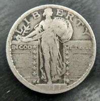 1917-S Standing Liberty Quarter Type 2 Fine F or Very Fine Details Clear 7