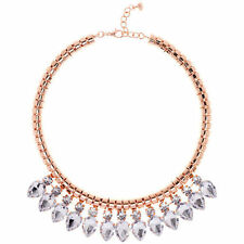 Pearl Rose Gold Plated Cluster Costume Necklaces & Pendants