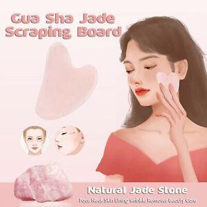 Natural Guasha Facial Jade Face Body Care Gua Sha Board Massager Tool Set