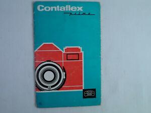Zeiss ikon Contaflex Prima: instruction manual in French language. Original.