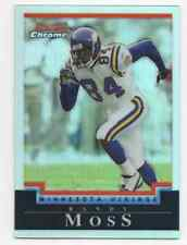 2004 BOWMAN CHROME REFRACTOR RANDY MOSS PARALLEL HOF #D /500 MINNESOTA VIKINGS