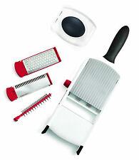 Cuisipro Hand Held Mandoline Slicer Julienne Grater Cutter with Hand Guard