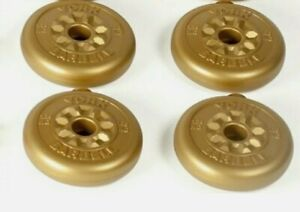York Fitness  1 inch  4 x 1.25kg weights
