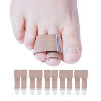 Sumifun 20pcs Toe Splint Straightener Toe Wrap Anti-Slip Brace Hammer Toe D1179