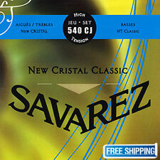 Savarez 540CJ Guitar Strings Acoustic Trebles Cristal HT Classical High Tension!