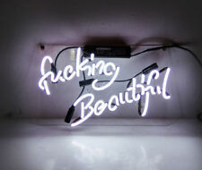 Fvcking Beautiful Glass Beer Bar Decor Party Artwork Vintage NEON Light Sign