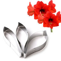 New 3pcs Flower Fondant Cake Petal Cutter Mold Stainless Steel Cake Decorating