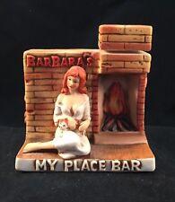 Barbara's My Place Bar ~ Captain Dug's Brothel Decanter ~ Winnemucca NV ~ 1980