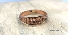 Om Aum Copper Hammered Ring Hindu Arthritis Stamped Arthritic Healing Unisex