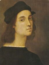 Raffaello Self Portrait Postcard used