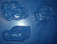3 MEDIUM SIZED LIGHTNING McQUEEN CARS SHAPES CHOCOLATE MOULD OR PLASTER MOULD