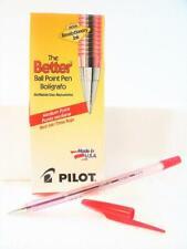 New Pilot Better Ballpoint Stick Pen Medium Point Red Ink Pack Of 12 37711