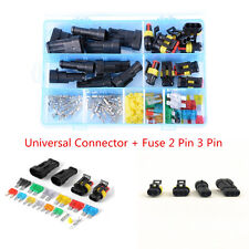 Universal 2Pin 3Pin Car Electrical Terminal Wire Connector + Auto Fuse With Box