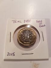 Monnaie royale Trial piece erreur 2015 ou copie 12 Côté Très bon état veuillez lire avant d'enchérir