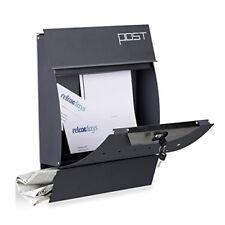Relaxdays Cassetta della Posta postale da parete con Portagiornale (n0a)