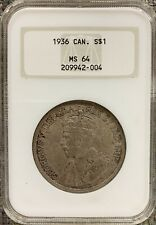 1936 Canada Silver Dollar - NGC MS64 - A Real Gem!