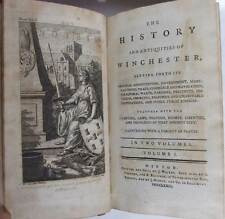 History of the Antiquities of Winchester, 1773, first edition 13 plates