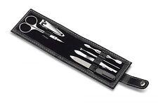 6 pcs. Set manicura Uñas bolsa Cuidado de uñas viajes Cuero artificial Metal