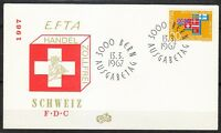Switzerland 1967 FDC cover Europa issue Flags of members