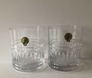 WATERFORD CRYSTAL PAIR OF ROCKS DOUBLE OLD FASHIONED BARWARE GLASSES-NEW