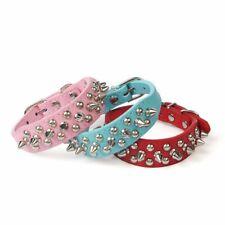 Pet Dog Collar Rivet Necklace Adjustable Collar Neck Pet Dog Collar PU Leather