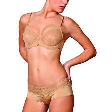 Montelle Noblesse Bra 9022 Lace Underwire 34E Nude