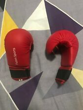 Kids karate gloves medium size red colour by Fuzon Sports